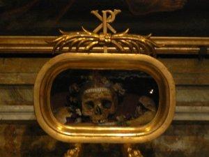 The bones of Saint Valentine, Santa Maria in Cosmedin, Rome